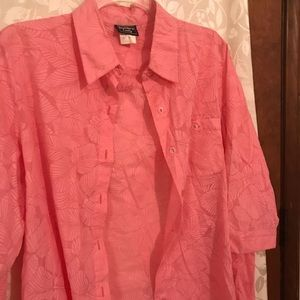 Tops - Southern Lady Coral Blouse